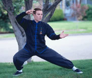 Tai Chi Student Practicing